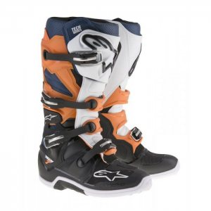 Alpinestars Stiefel Tech 7 in orange weiss blau