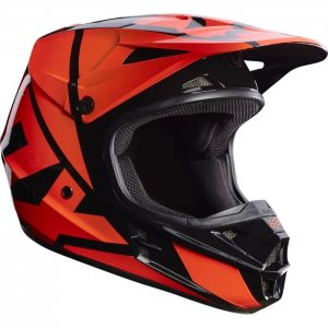 FOX V1 RACE Helm Orange 2017