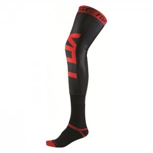 Fox Proforma Knee Brace Socken in schwarz-rot