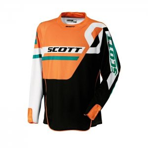SCOTT 450 Track Jersey in black-orange