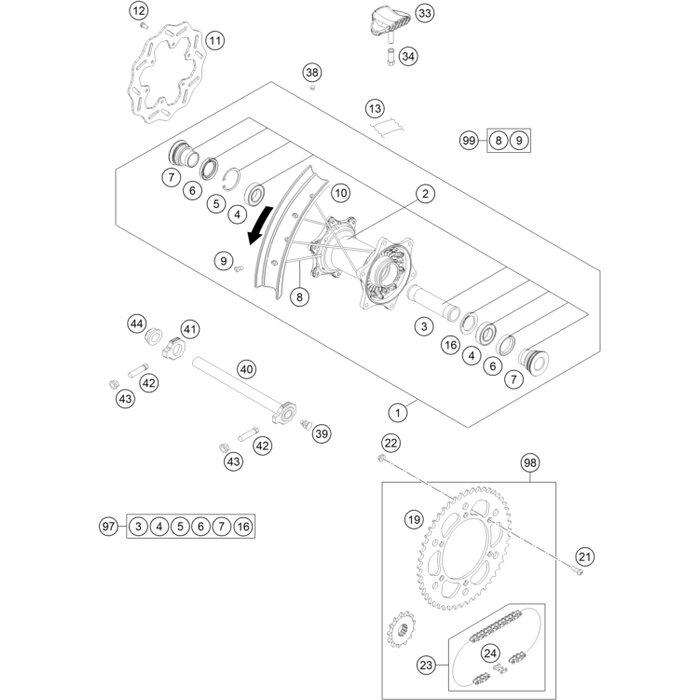 Rim Lock Diagram