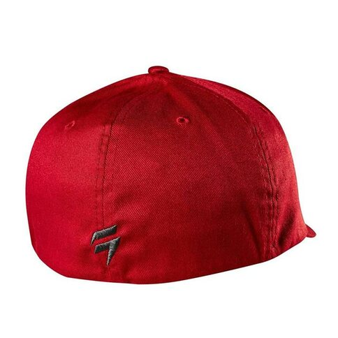 SHIFT 3LACK Label Flexfit Hat DRK RD Dunkelrot Dark RED L/XL