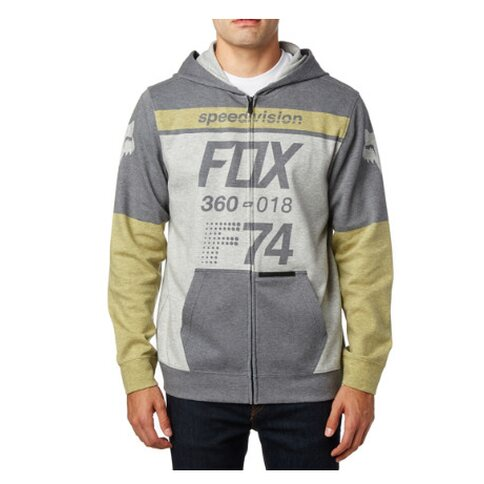 Fox Fleece Zip-Hoody Draftr MDNT Grau Gelb