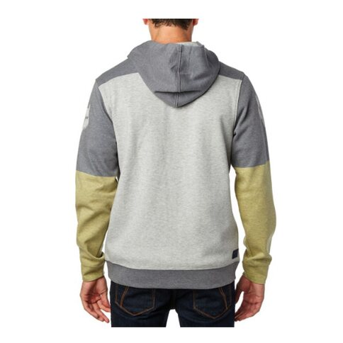 Fox Fleece Zip-Hoody Draftr MDNT Grau Gelb M