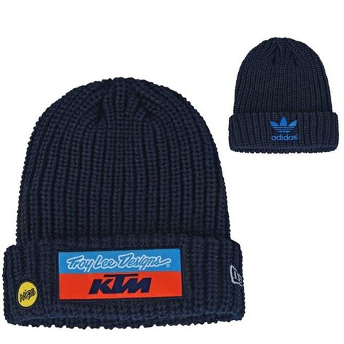 Troy Lee Design KTM Team Beanie Strick Wolle Blau TLD