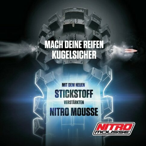 Nitro Mousse Moosgummi 18 Zoll Nuetech USA 140/80-18 Medium