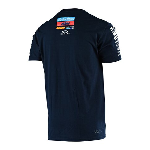 Troy Lee Designs KTM Team Tee Shirt Blau