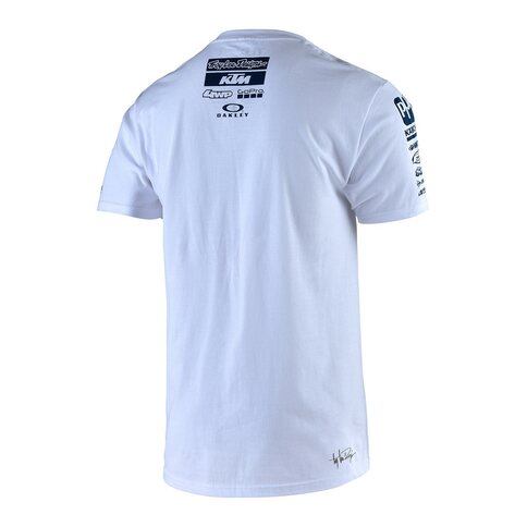 Troy Lee Designs KTM Team Tee Shirt Weiß