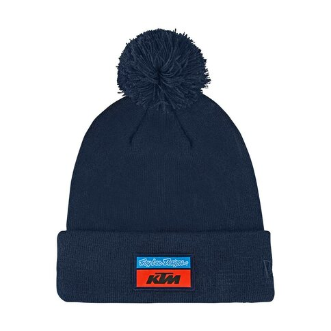Troy Lee Design KTM Team Pom Beanie Navy Blau