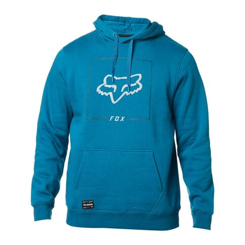 Fox Hoody Fleece Chapped Blau