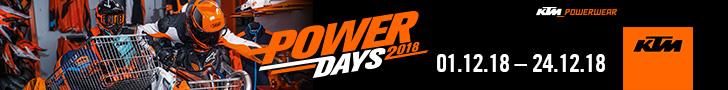 Hier geht es zum KTM Powerdays 2018 Gutschein